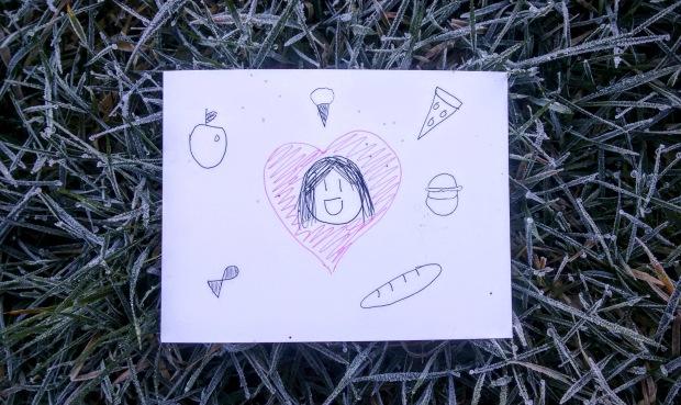 britannia food heart postcard