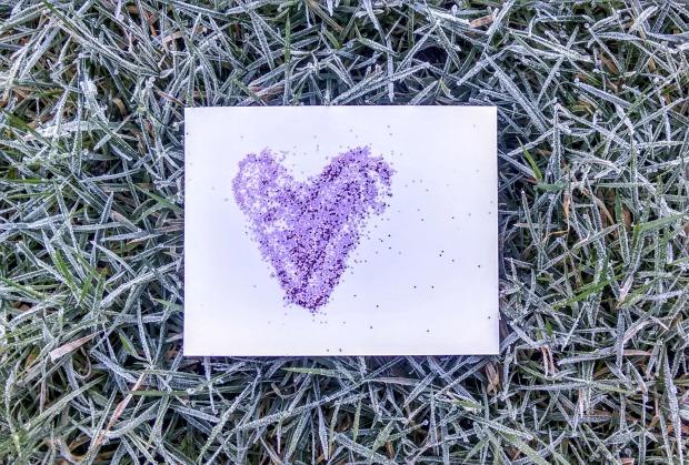 britannia heart postcard