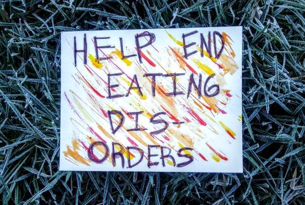 help end eating disorders postcard