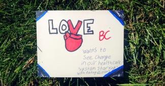 love bc wants to see change postcard