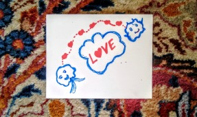 love cloud postcard