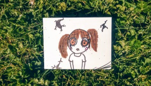 love girl postcard