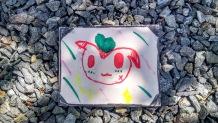love pikachu postcard