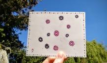 love pinwheel postcard