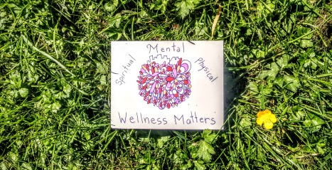 love spiritual mental physical wellness matters postcard