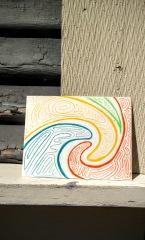 love swirl postcard